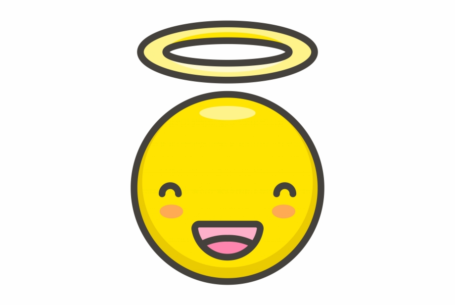 Smiling Face With Halo Emoji Smiley Transparent Png