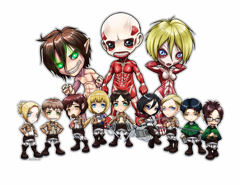 Attack On Titan Chibi Wallpaper On We Heart It Chibi Attack On Titan Titans Transparent Png Download 5111853 Vippng