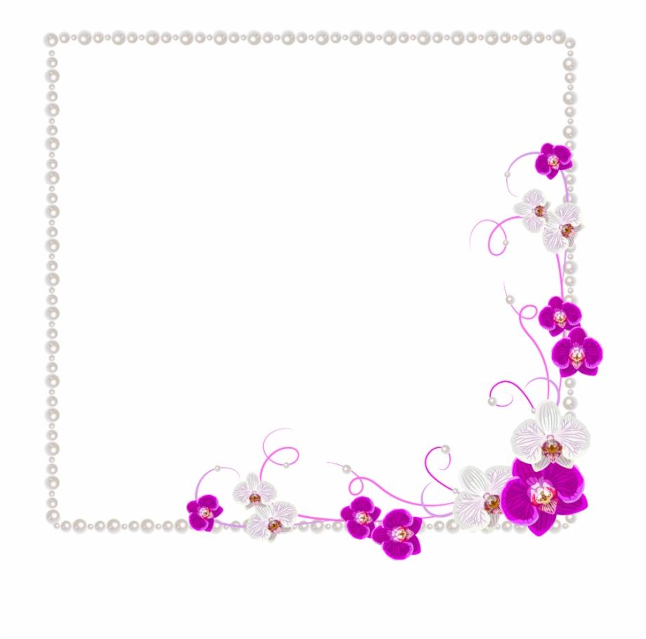 3deffect Logo: #mq #pearls #white #flower #flowers #frames #border