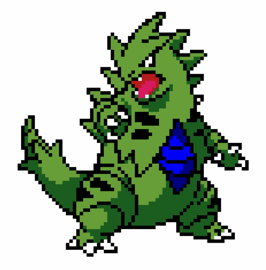 Tyranitar Pokemon Pixel Art Tyranitar Transparent Png