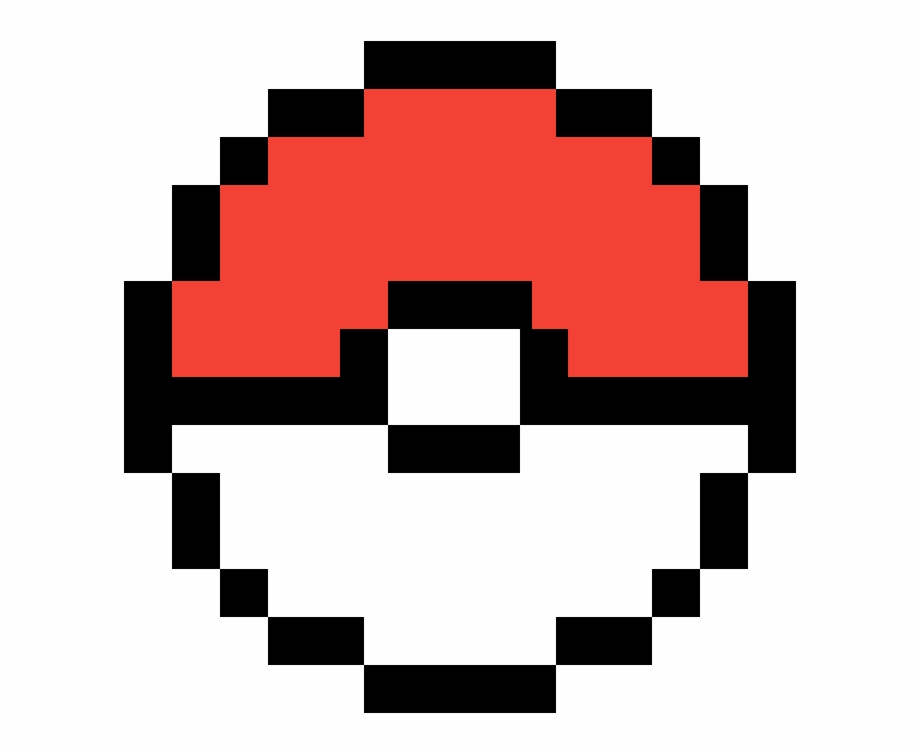 Pokemon Ball Pokeball Pixel Art Transparent Png Download