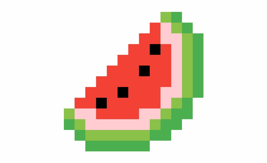 Pixel Watermelon Slice Pixel Art Watermelon Transparent Png Download 5191630 Vippng