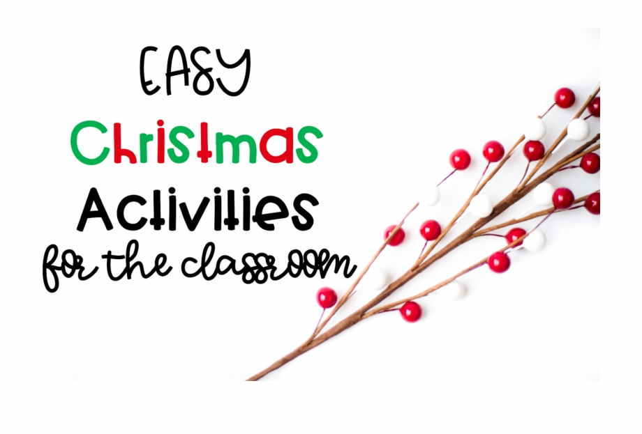 Easy Christmas Activities Calligraphy Transparent Png