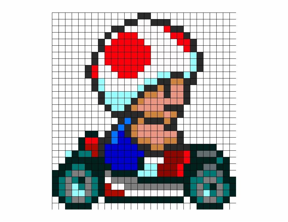 Toad Kart Page Perler Bead Pattern Bead Sprite Hama
