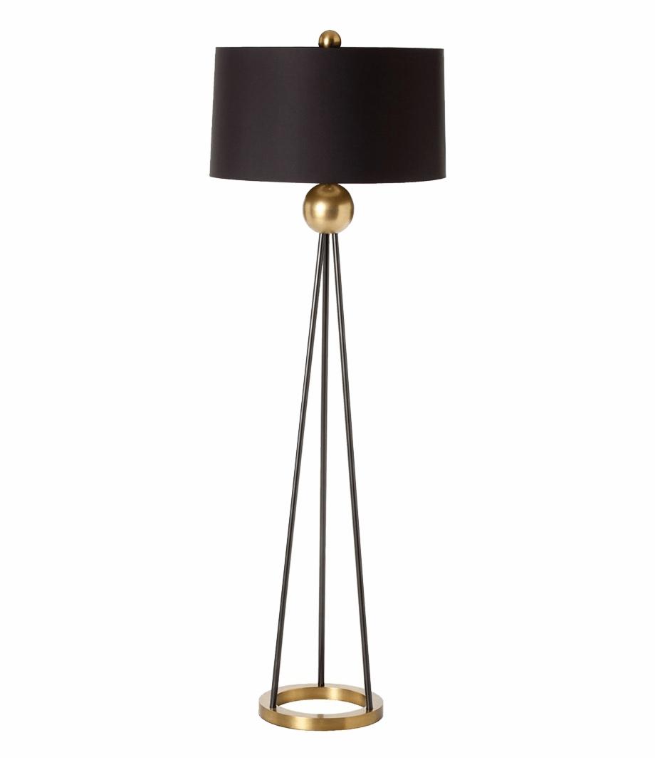 Gold Modern Floor Lamp Transparent Png Download 5279700 Vippng