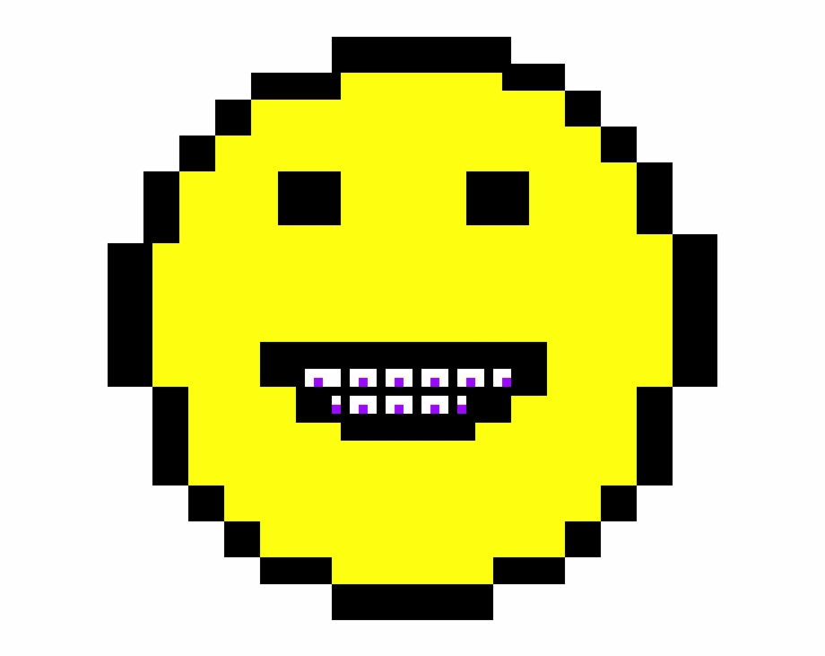 Braces Emoji Pixel Art Smiley Transparent Png Download