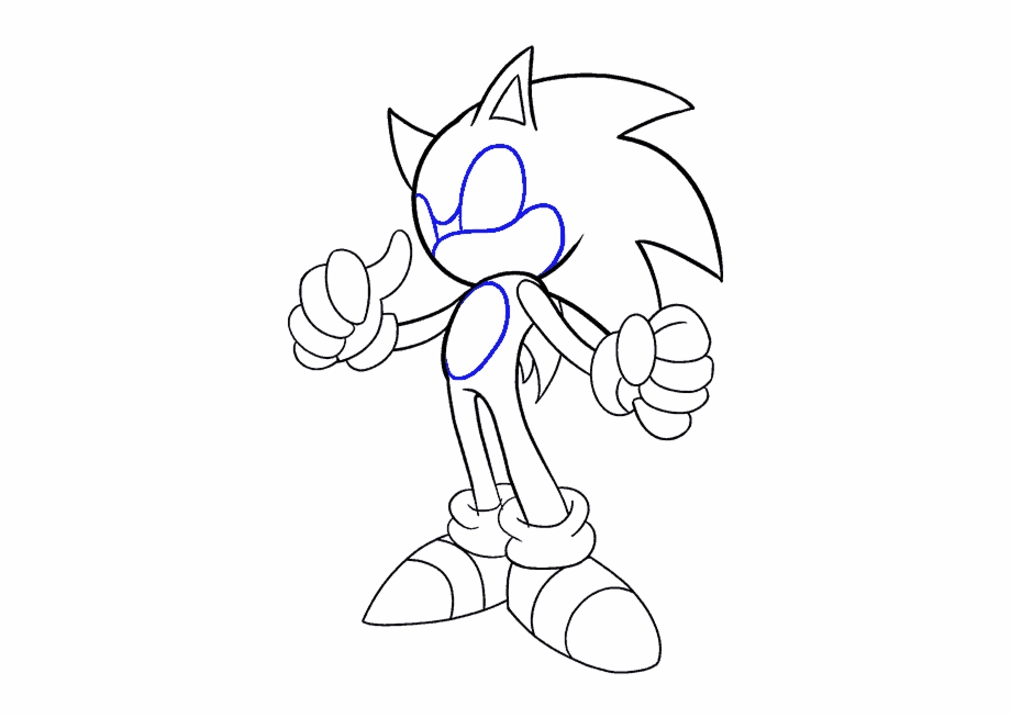 How To Draw Sonic The Hedgehog Drawing Transparent Png Download 532603 Vippng