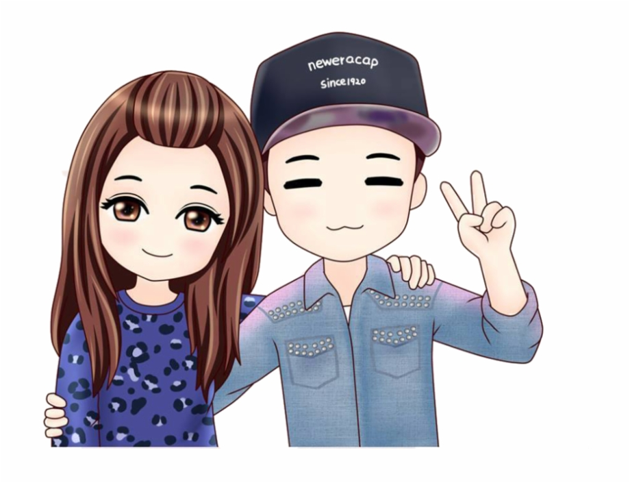 Monday Chibi Png Couple Cartoon Transparent Png Download 534982 Vippng