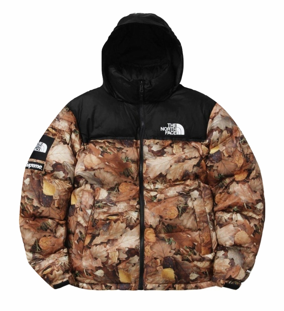 Supreme The North Face Nuptse Leaves Jacket Supreme X Tnf Leaves Transparent Png Download 5301675 Vippng