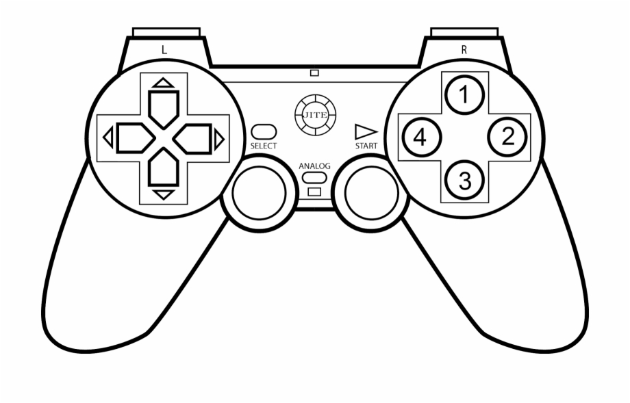 Atari Controller Coloring Pages - Video Games For Coloring Transparent  PNG Download #5338750 - Vippng