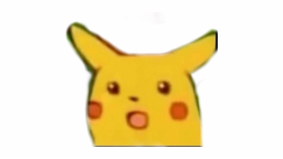 Pika Sticker - Surprised Pikachu Meme Png | Transparent ...