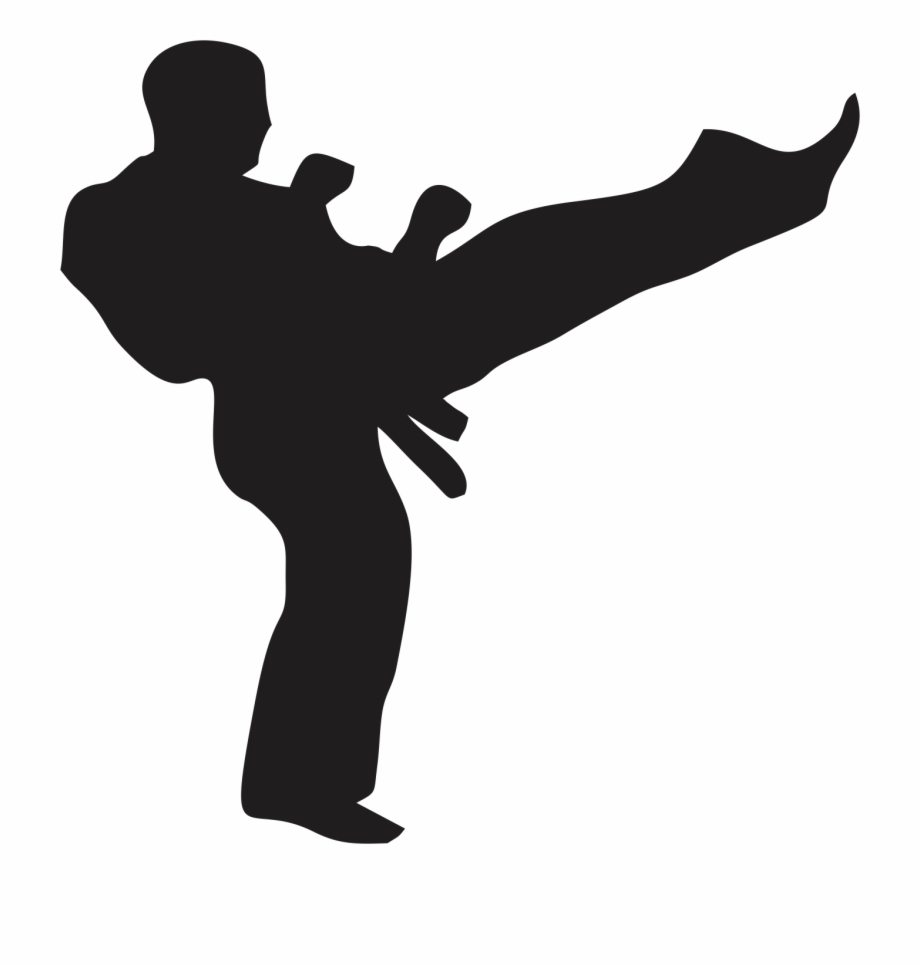Martial Arts Clipart Black And White Martial Arts Transparent Png Download 5390114 Vippng