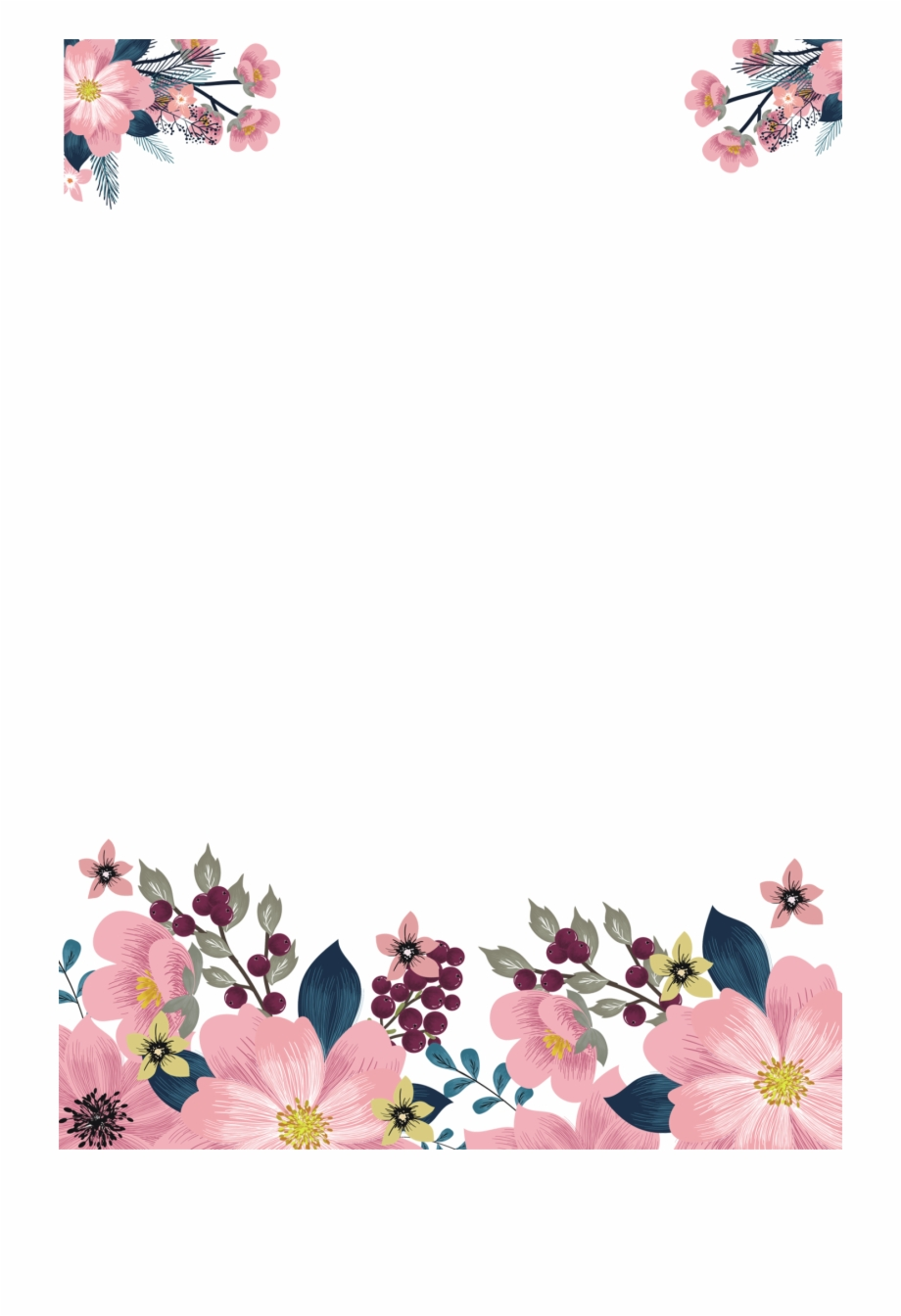 Flower Png Watercolor , Floral Watercolor Png Free Download