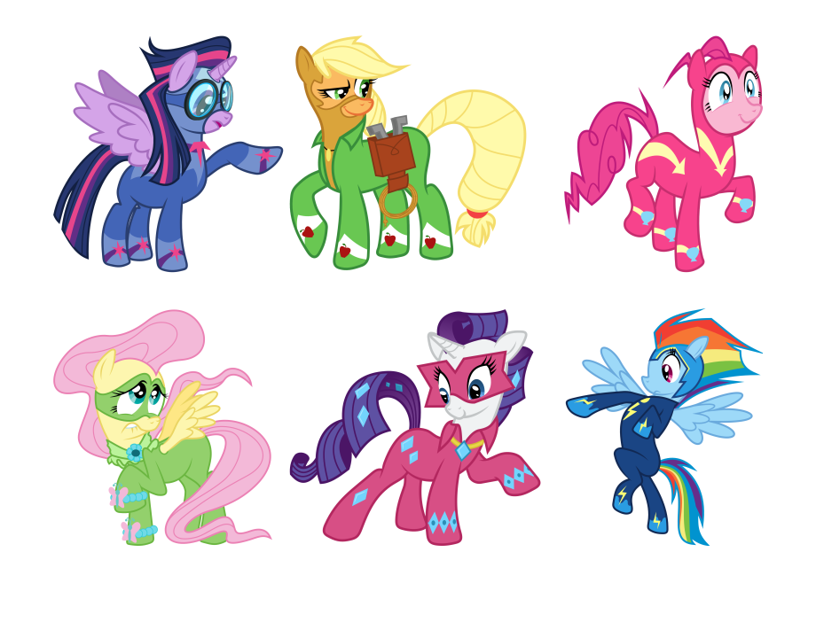 Rarity Pinkie Pie Rainbow Dash Princess Celestia Applejack My Little Pony Power Ponies Coloring Pages Transparent Png Download 5454997 Vippng