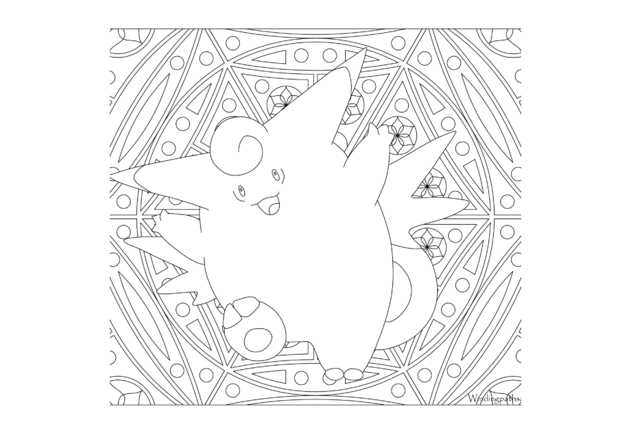 Adult Pokemon Coloring Page Magikarp · Windingpathsart.com | 632x920