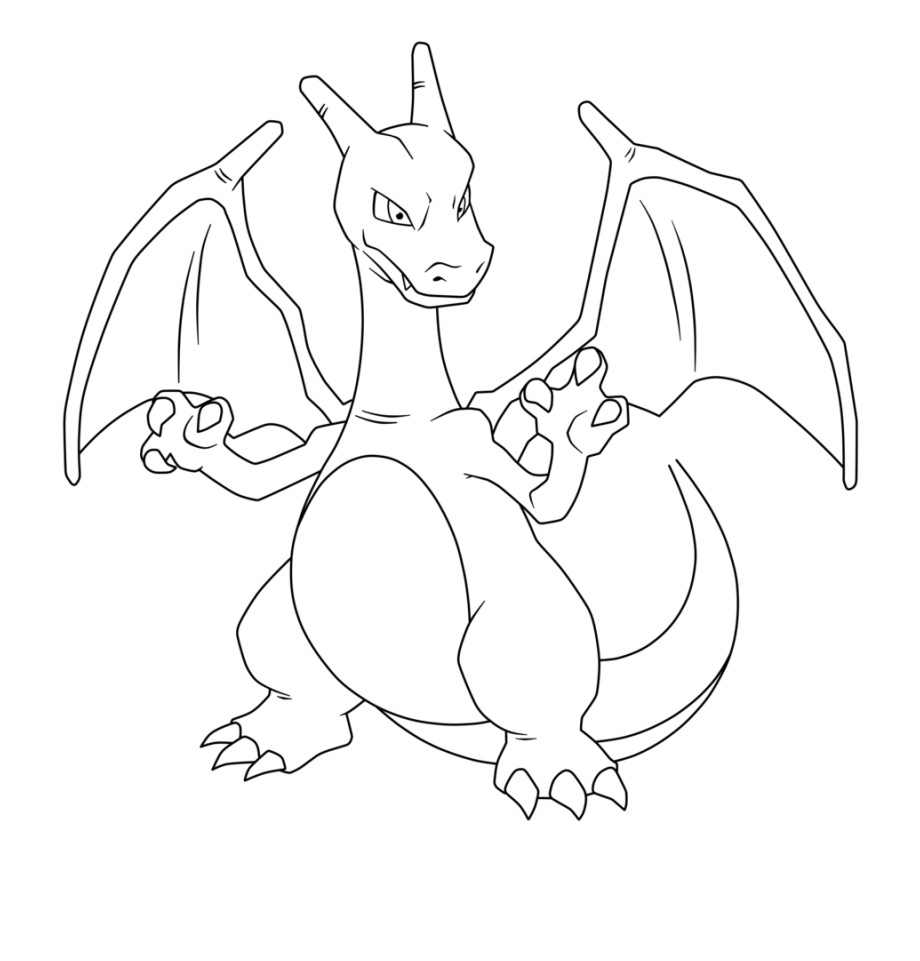 Pokemon Charizard Para Colorear Transparent Png Download