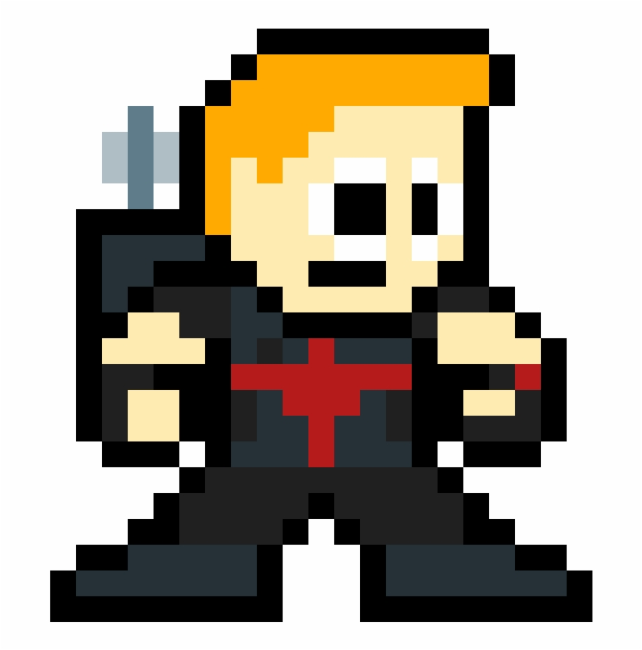 Hawkeye Pixel Art De Zoom Transparent Png Download