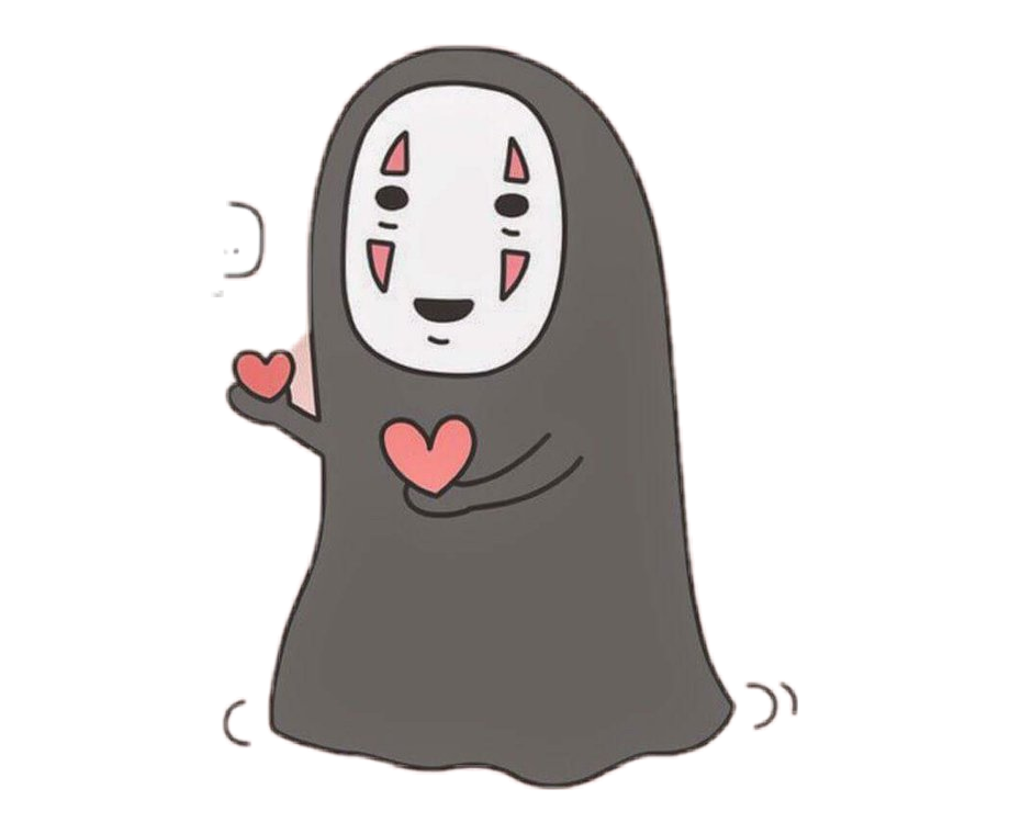 Noface Ghibli Cute Spiritedaway Spirited Away No Face Cute Transparent Png Download 5504082 Vippng