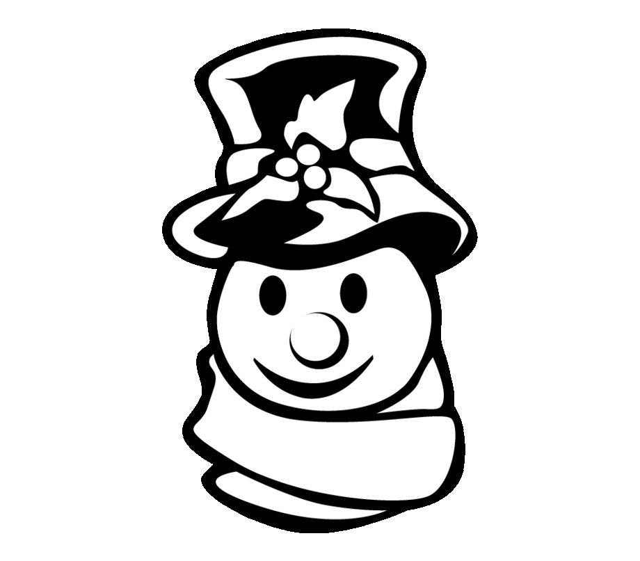 Christmas Snowman Silhouette Snowman Clipart Silhouette Transparent Png Download 5537653 Vippng
