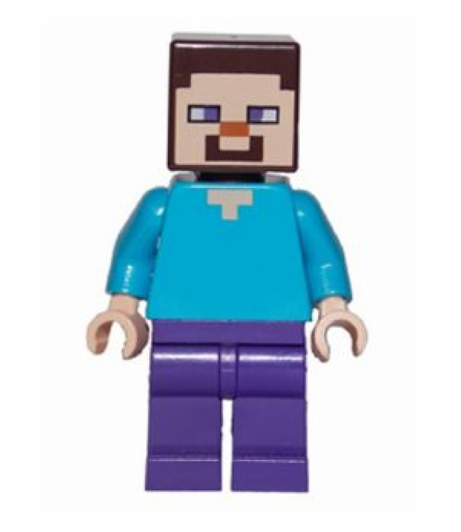 Min009 980x980 Minecraft Steve Lego Figure Transparent Png