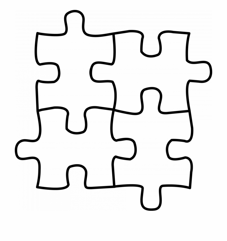 Autism Vector Jigsaw Puzzle Black And White Transparent Png