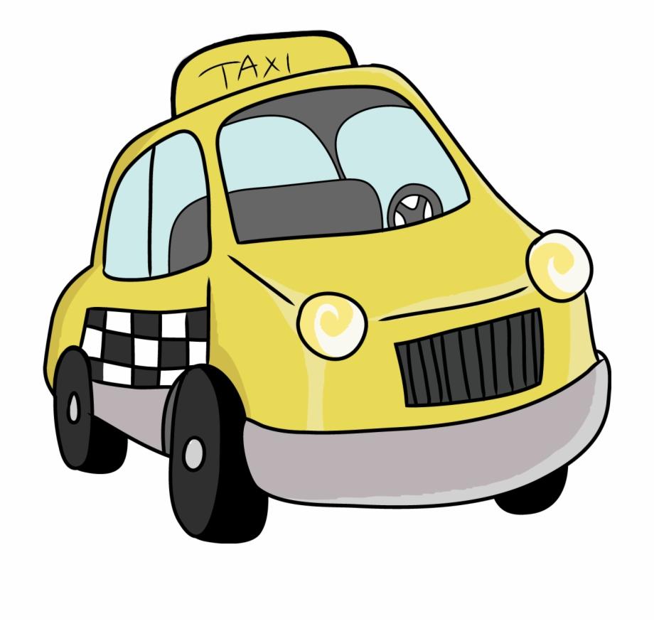 Cartoon Taxi Car Png Clipart Transparent Background Taxi Clip Art Transparent Png Download 599388 Vippng