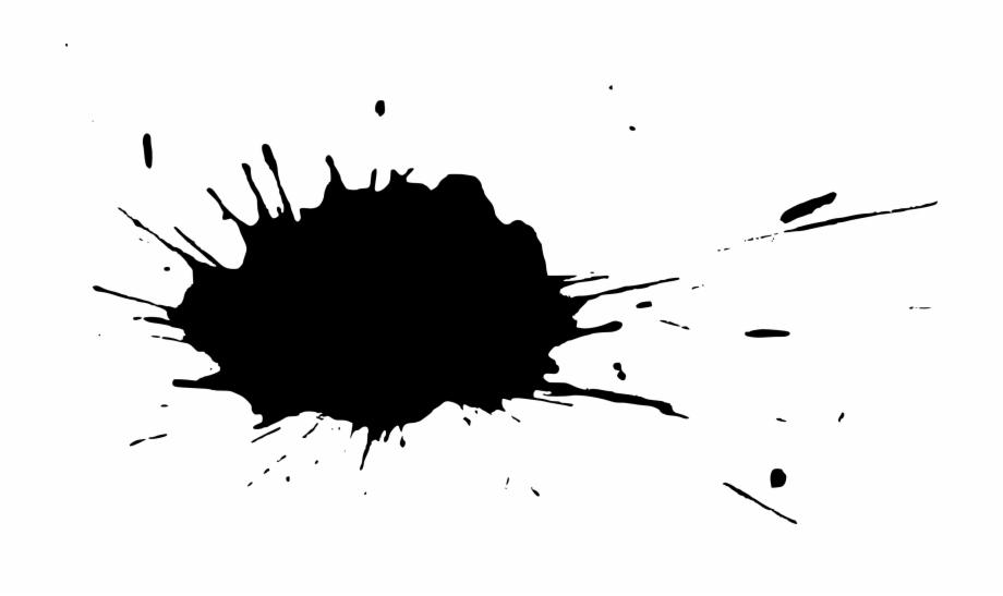 black splash png free download - black transparent paint splash png