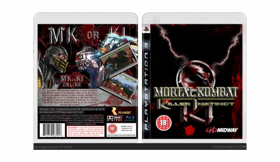 Mortal Kombat Vs Killer Instinct Box Art Cover Playstation 2