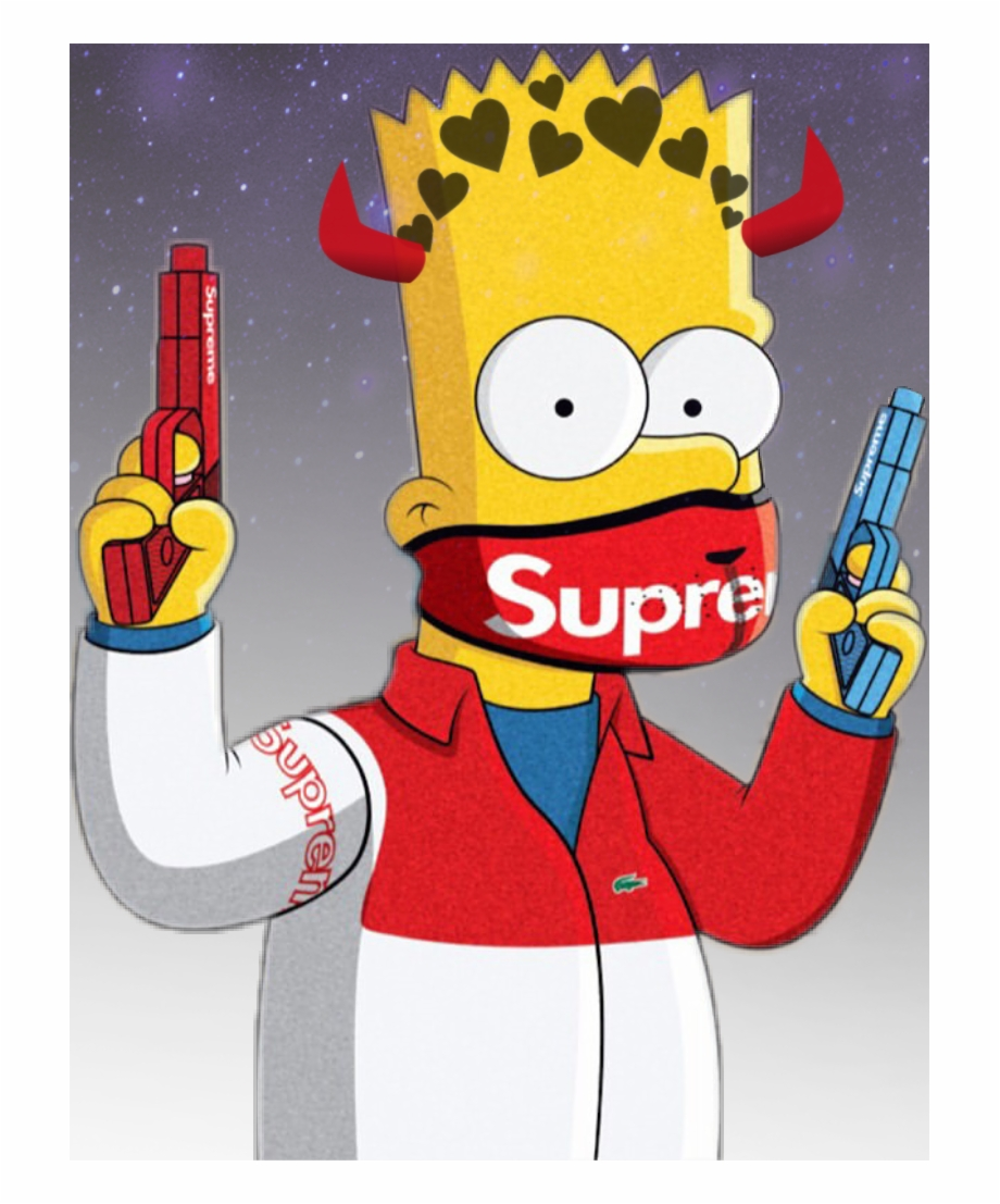 Bartsimpson Sticker - Bart Simpson Supreme | Transparent PNG