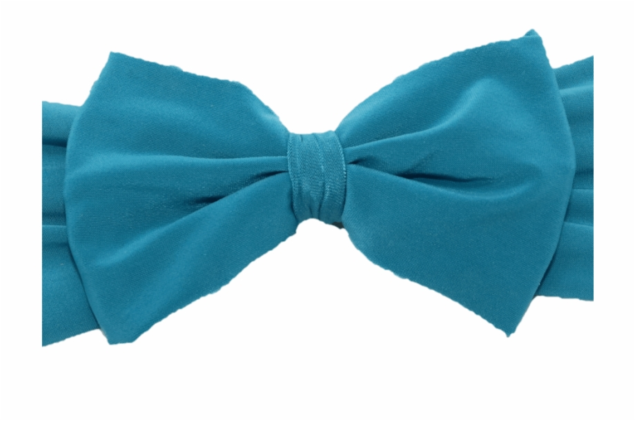 Blue Heat Band Bow Hair Tie Transparent Png Download 607305