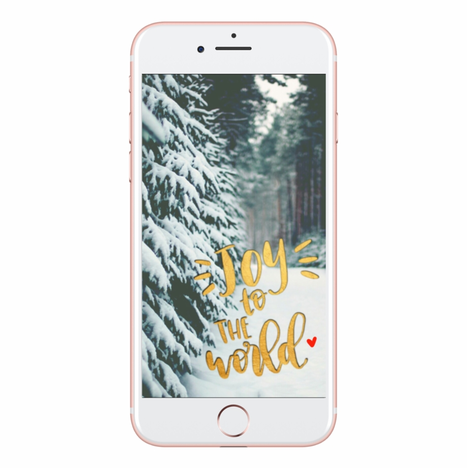 Joy To The World Lock Screen - Iphone 7 Plus Snow | Transparent PNG  Download #613091 - Vippng