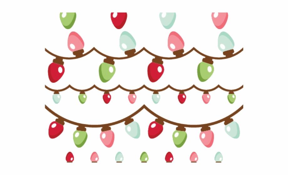 Christmas Lights Clipart Header Cartoon Transparent Png