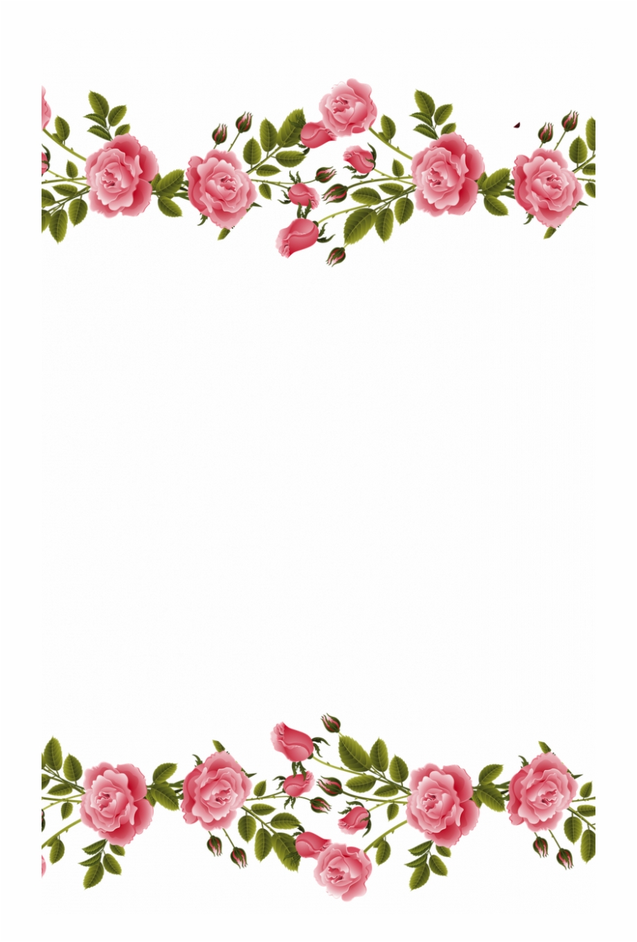 Pink Rose Wallpaper Border Vintage Rose Rose Vine Transparent