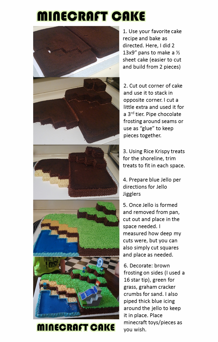 Minecraft Birthday Cake Minecraft Cupcakes Easy Minecraft Chocolate Transparent Png Download 647947 Vippng