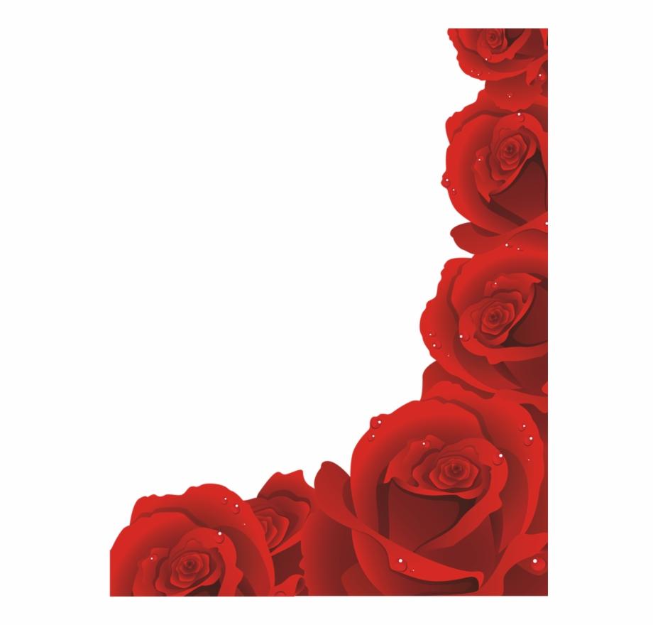 Red Rose Border Png Red Roses Border Png Transparent Png