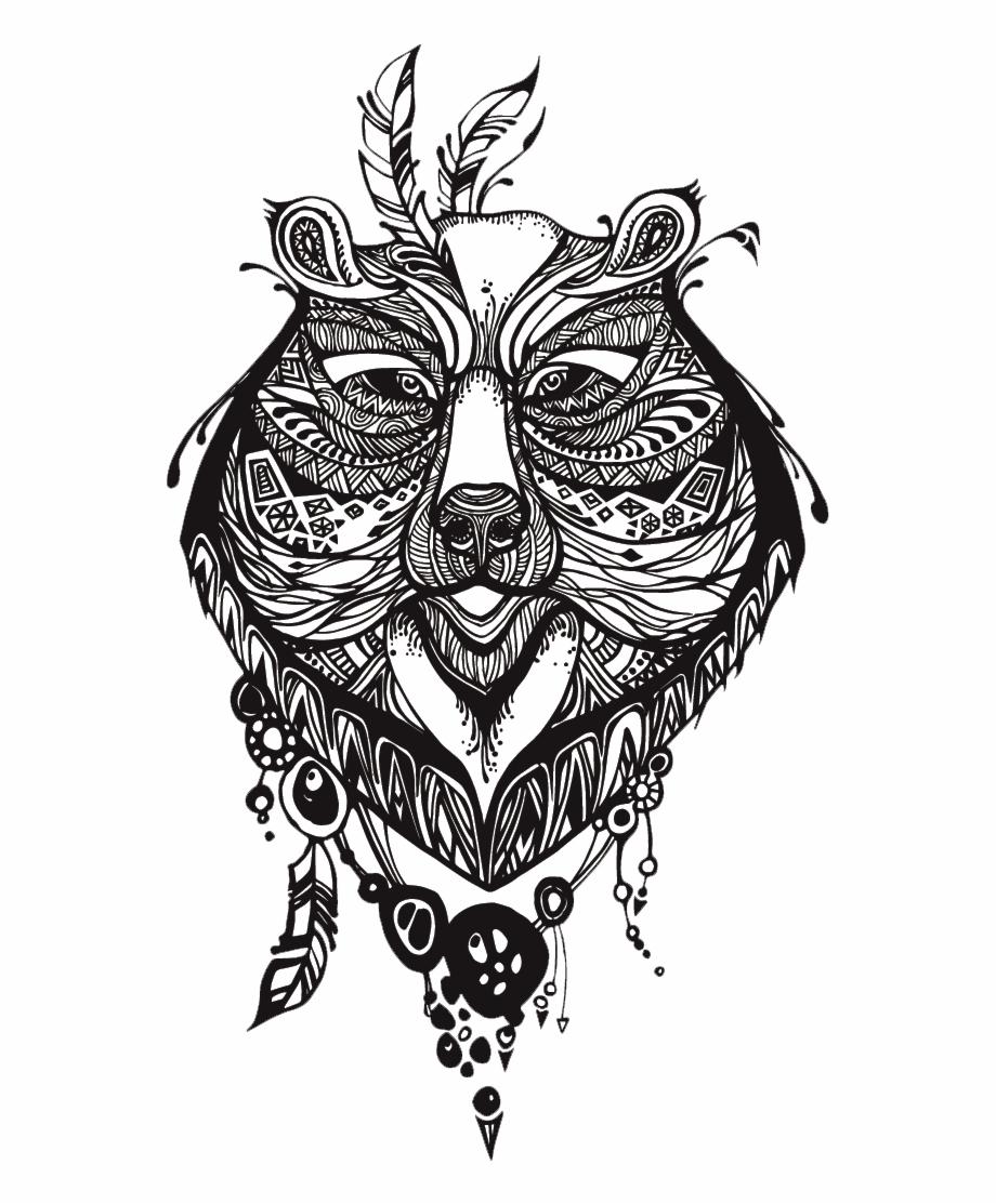 Bear Tattoos, Tribal Bear Tattoo, Totem Tattoo, Vector