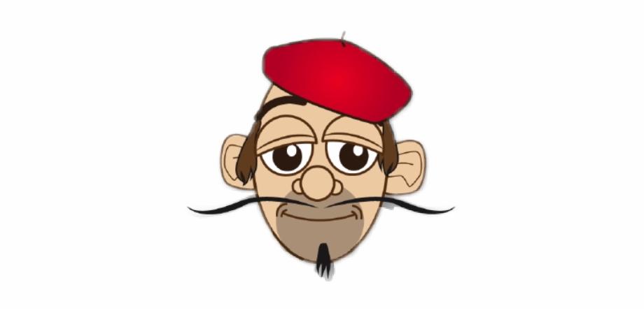 #french #man #face #mustache #cartoon #beret - Clip Art ...