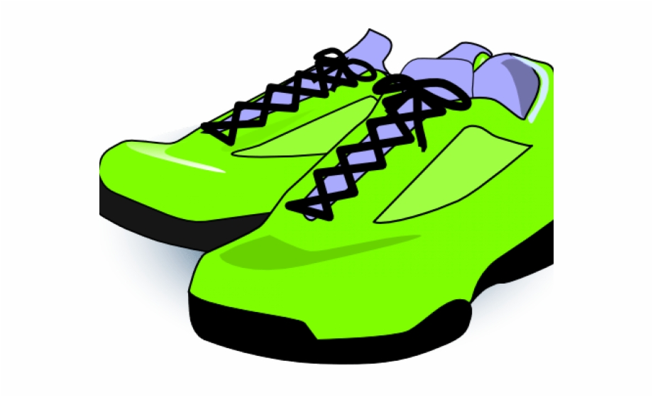 Running Shoes Clipart Neon Clothes , Shoes Clip Art