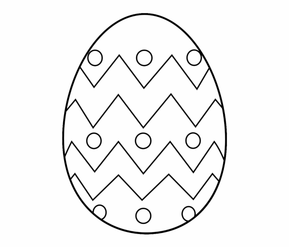 Free Egg Free Clip Art Of Egg Clipart Black And White - Easy Easter Egg  Coloring Pages Transparent PNG Download #698354 - Vippng