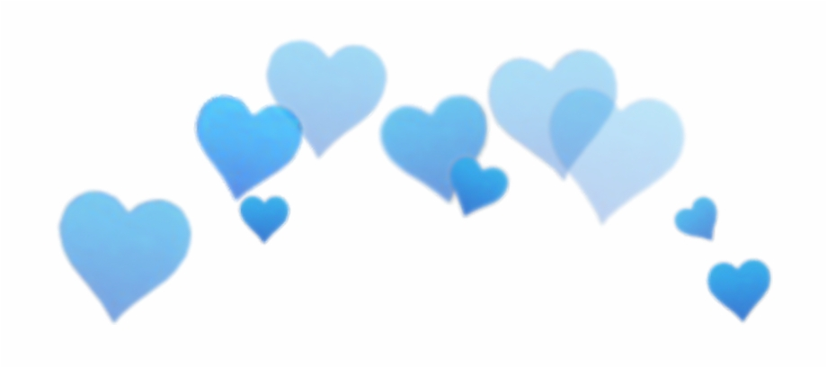 blue #blu #heart #png #overlay #edit #tumblr - Blue Hearts
