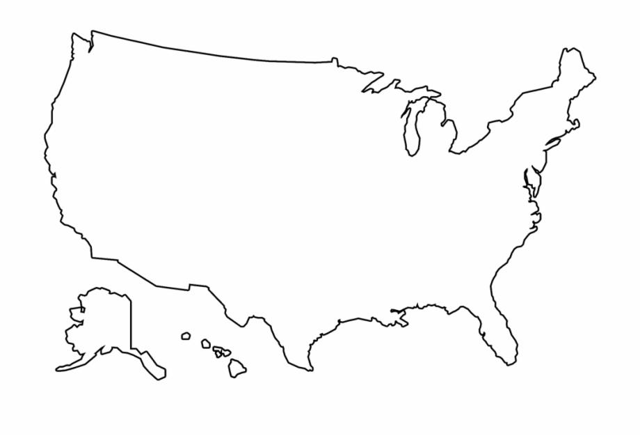 Free Illustration Us Map Outline Us Map America Free - Usa ...