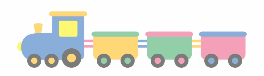 Cute Pastel Colored Train Baby Toys Train Clipart Transparent Png Download 79506 Vippng