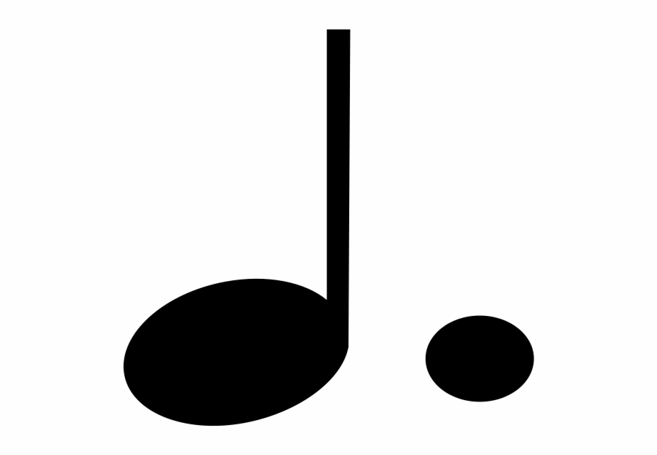 Dotted Quarter Note Symbol | Transparent PNG Download ...