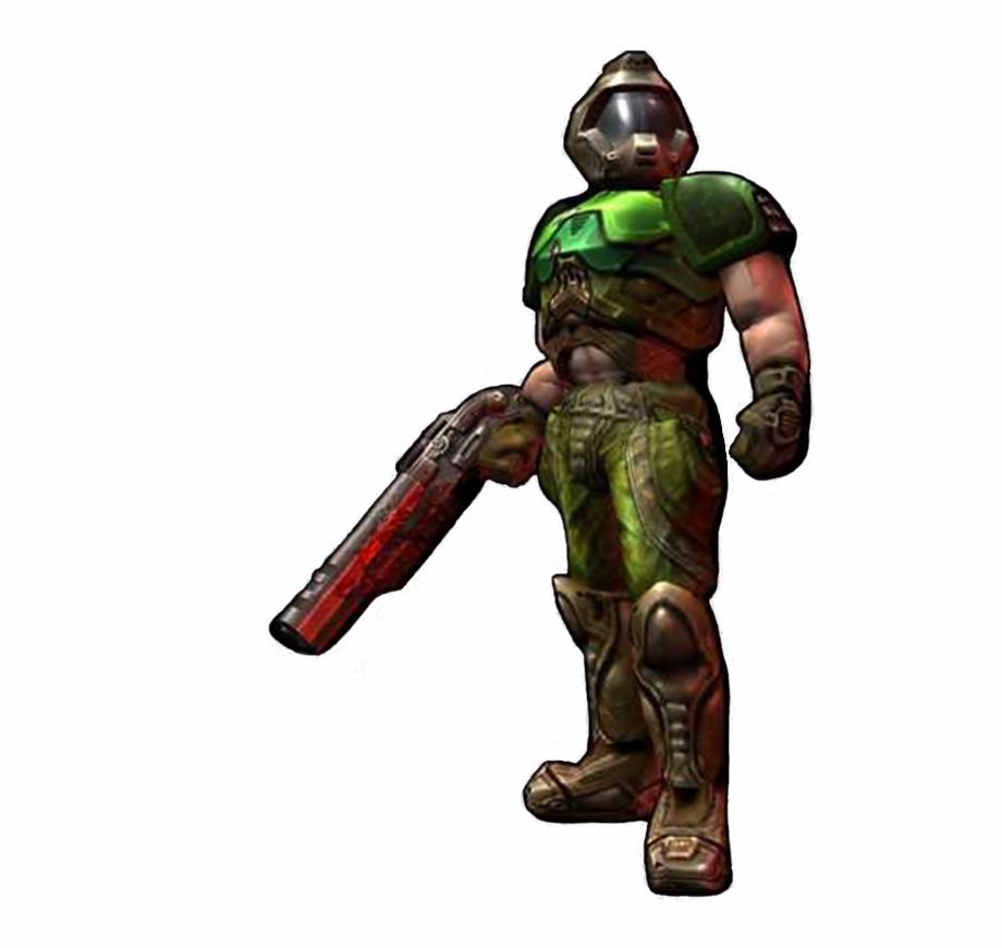 Doomguy Doom Guy Vs Doom Slayer Transparent Png Download