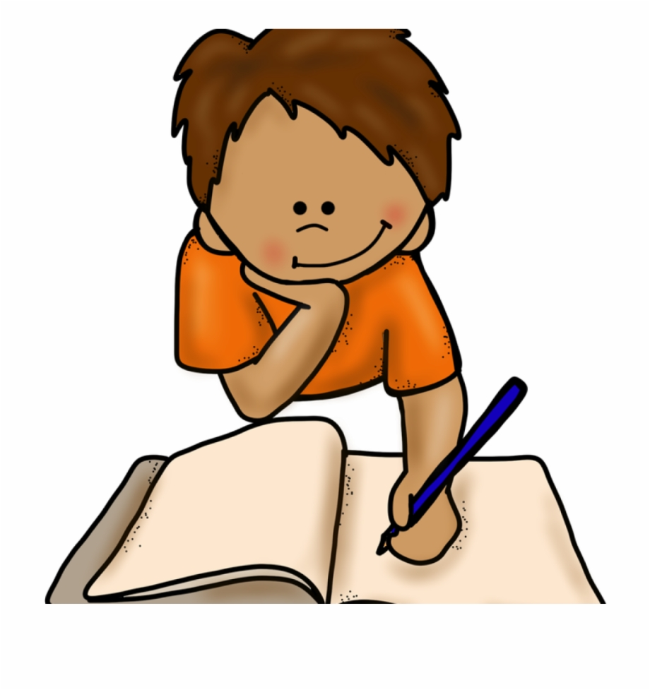 Students Writing Clipart - Student Thinking Clipart - Png Download - Full  Size Clipart (#881333) - PinClipart