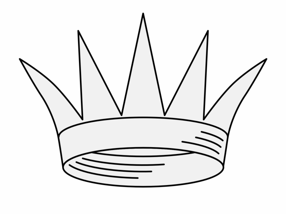 Crown Traceable Heraldic Art Princess Crown Template Line Art Transparent Png Download 792273 Vippng