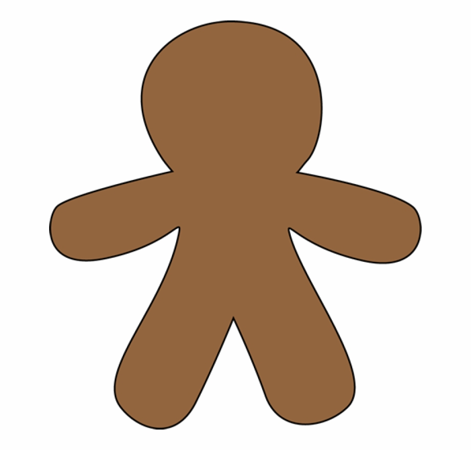 Gingerbread Man Clip Art Free Free Clipart Images Brown Gingerbread Man Template Transparent Png Download 82231 Vippng