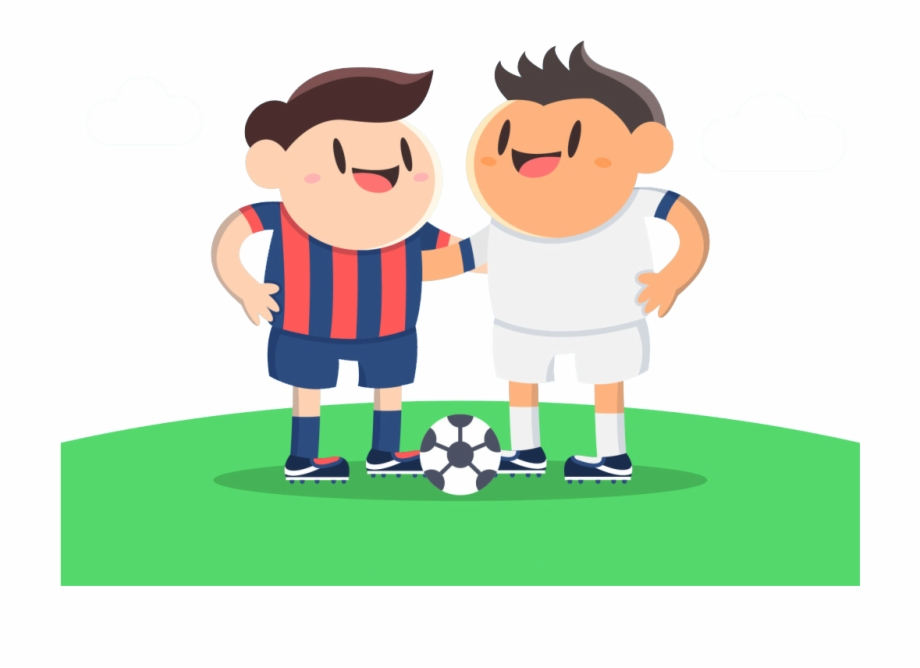 Friends Playing Soccer Png Friends Playing Football Cartoon Transparent Png Download 85137 Vippng