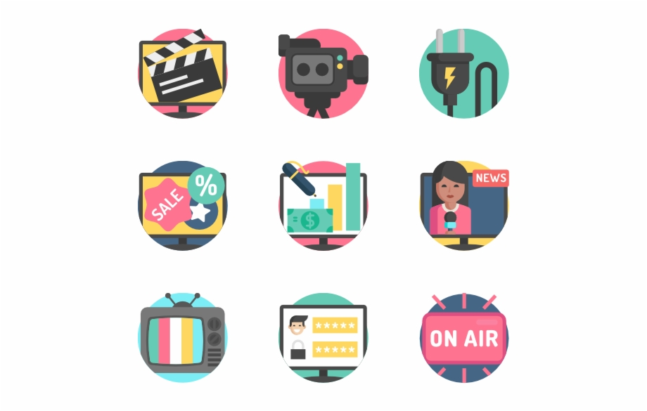 Television - Tv Icon Vector Png   Transparent PNG Download