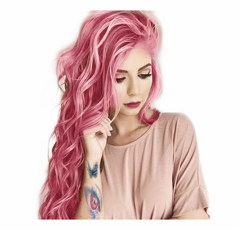 Pink Hair Haircolor Tumblr Tumblrgirl Girl Tattoo